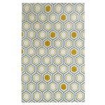 Carpette 60x115 cm izia coloris jaune et bleu