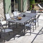 Table de jardin grise mobilier de jardin en fer | Maisonjoffrois