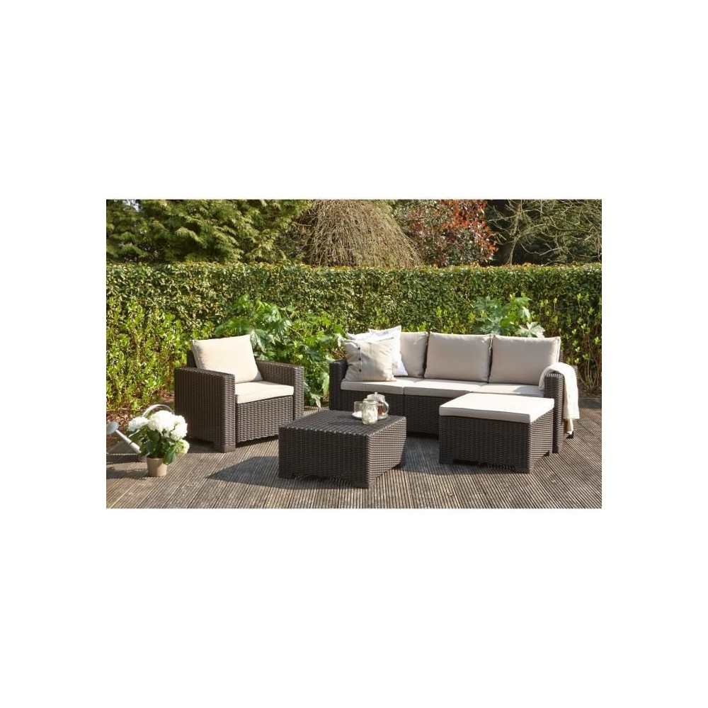 ALLIBERT salon de jardin MOOREA 4 pieces imitation resine ...