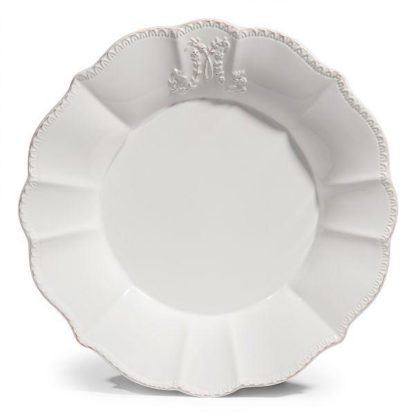 Assiette plate en faïence blanche D 27 cm BOURGEOISIE pas ...