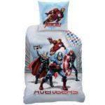 Avengers - Housse de couette City 140x200 + taie 63x63 enfant 100% coton
