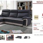 Canapé d'angle relax électrique PROVO en tissu pas cher - Canapé Vente  Unique
