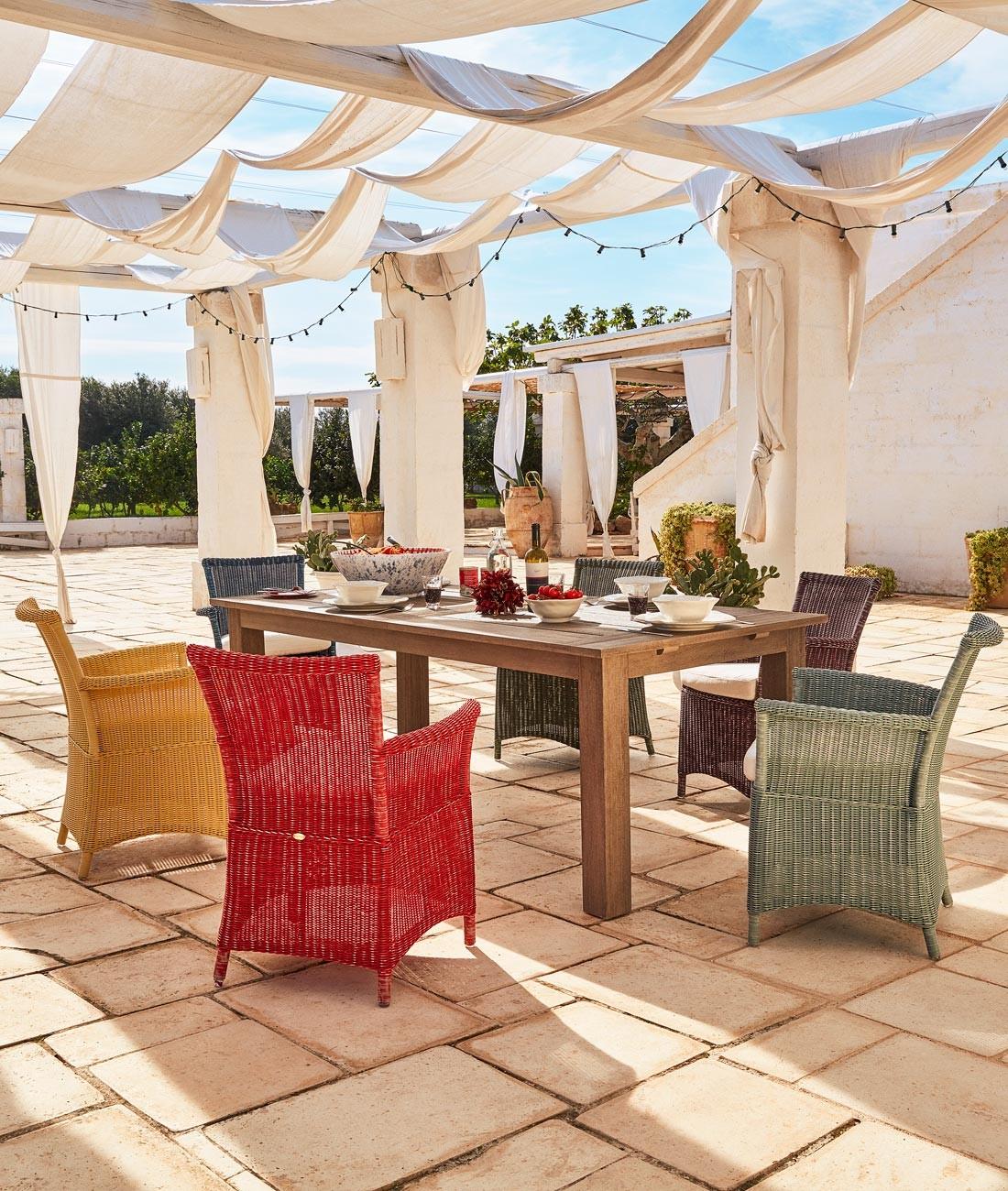 Petit fauteuil de jardin Capri en WaProLace - Unopiù