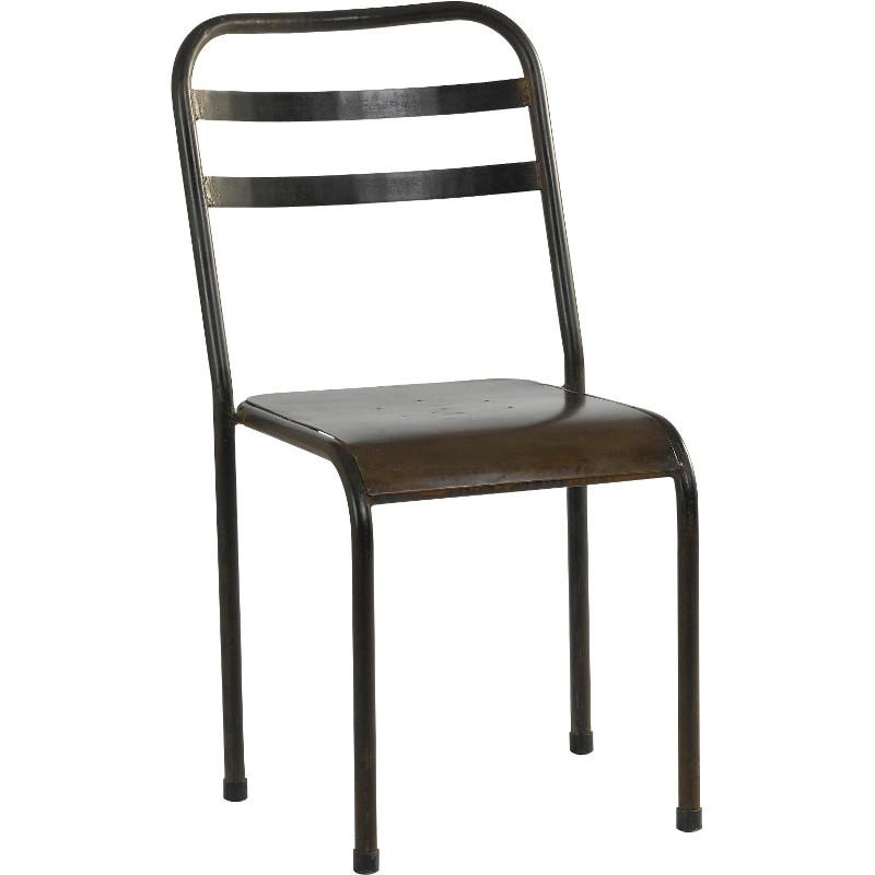 Chaise metal jardin chaise jardin gris anthracite | Djunails