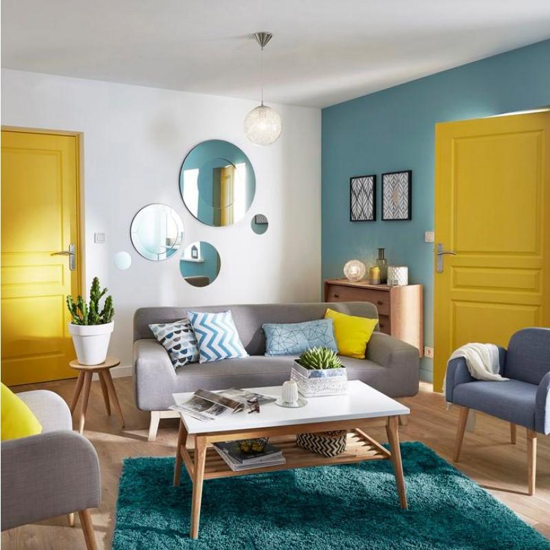 Tapis bleu extra doux 120x170cm Caline - Tapis chambre, tapis salon ...