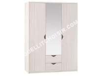 Lit Conforama Armoire 3 Portes Dont Porte Miroir 2 Tiroirs Coloris