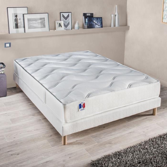 Confort Design Ensemble Matelas + Sommier 160X200 Cm – Polylatex en …