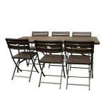 Promotions en cours Table pliante avec chaises intégrées conforama