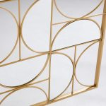 Déco murale miroir en métal doré 90×120 Goldfinger | Maisons du Monde