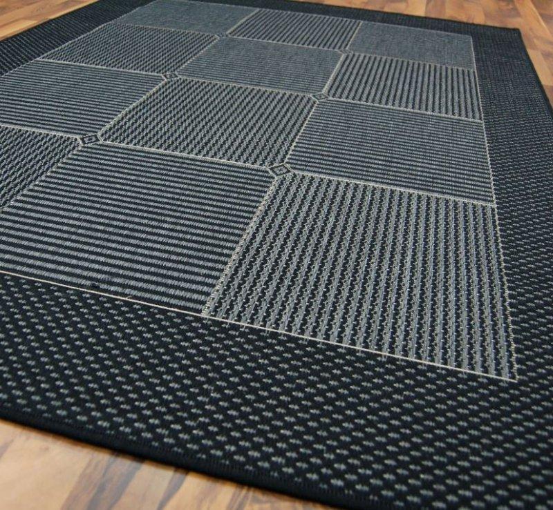 Carpetto tapis gris bleu fonce 120x170 cm