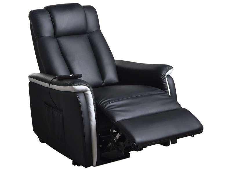 Fauteuil Relaxation électrique Xl Relax Coloris Noir Gris 1