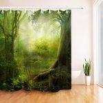 Rideau de douche arbre forêt 3D pour salle de bain Polyester | Etsy