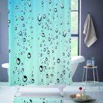 Rideau de douche pluie gouttes | Etsy