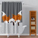 Rideau de douche renard Couleur personnalisé Mignon Nature | Etsy