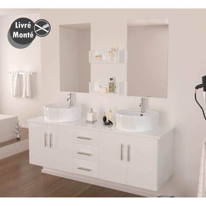 Lavabo salle de bain double vasque - up position
