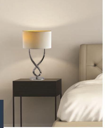 Chrome Et Lampe Metal Coloris Blanc Poser A rCdxBeo