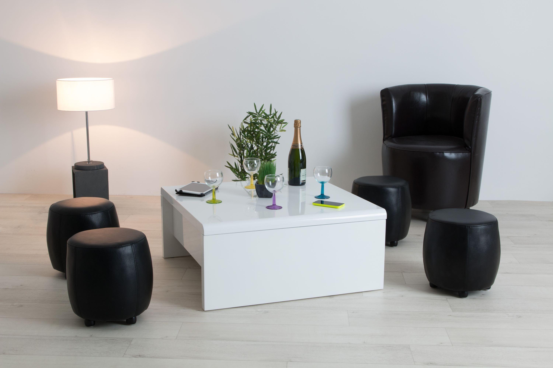 ... LEVI Table Basse Carr E Relevable Laqu E Blanche Tables Consoles Avec  Lift Atlas00001 61 1 ...