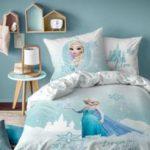 Disney Princesses - Parure housse de couette pur coton Reine des Neiges