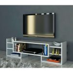 Meuble Levi Blanc Avec Wooden Art Meuble TV Blanc Brandalley Idees …