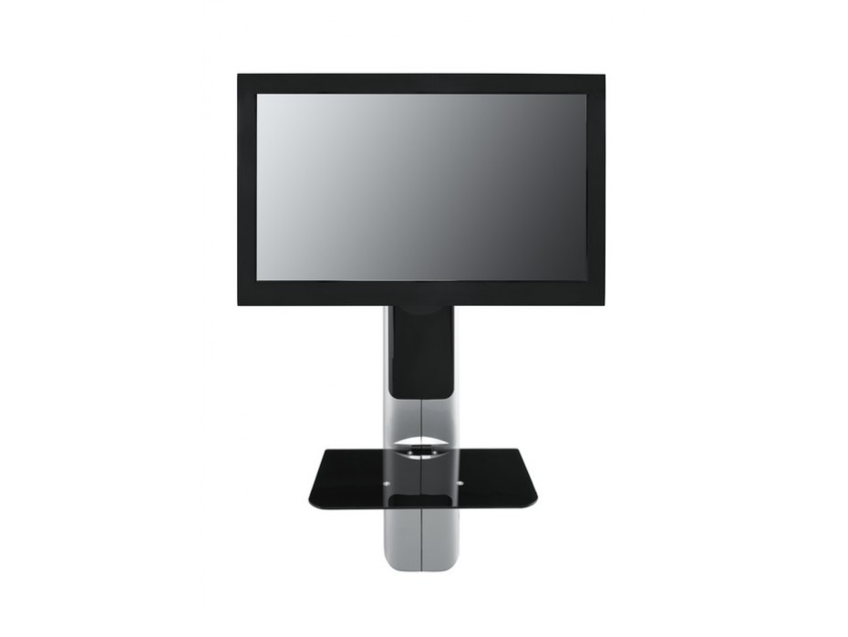 Pied Mural Tv Omb Easythree Noir Support Mural Tv With Pied