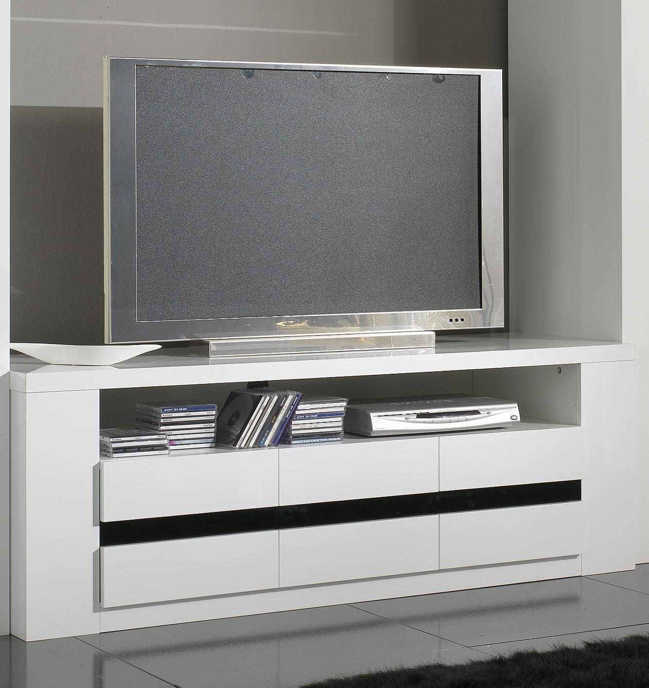 Meuble Tv D Angle Blanc Laque Meuble Tv Blanc Et Bois