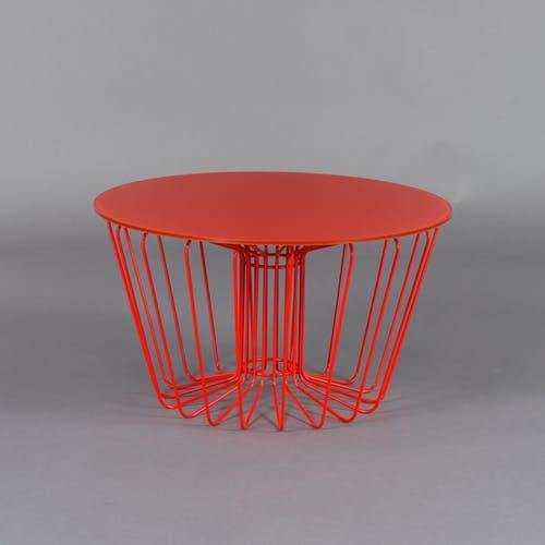 Table basse par Arik Levi pour Zanotta – verre et cristal – rouge …