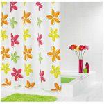 RIDDER Rideaux de douche textile – Fleur