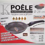 KLAUS POELE EN PIERRE 28 cm FOUR induction marmite couvercle couteau …