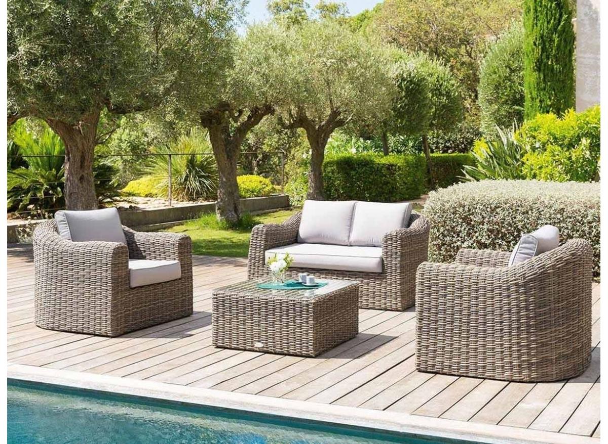Salon de jardin en résine modèle Mooréa couleur au choix | Hesperide