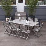 Table de jardin grise salon de jardin resine tressee pas cher …