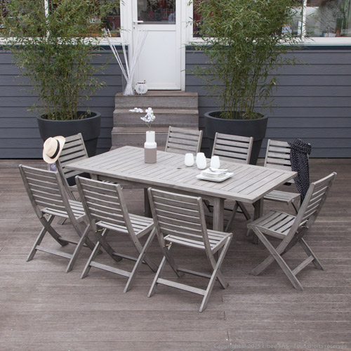 Emejing Table De Jardin Bois Gris Photos - House Interior ...