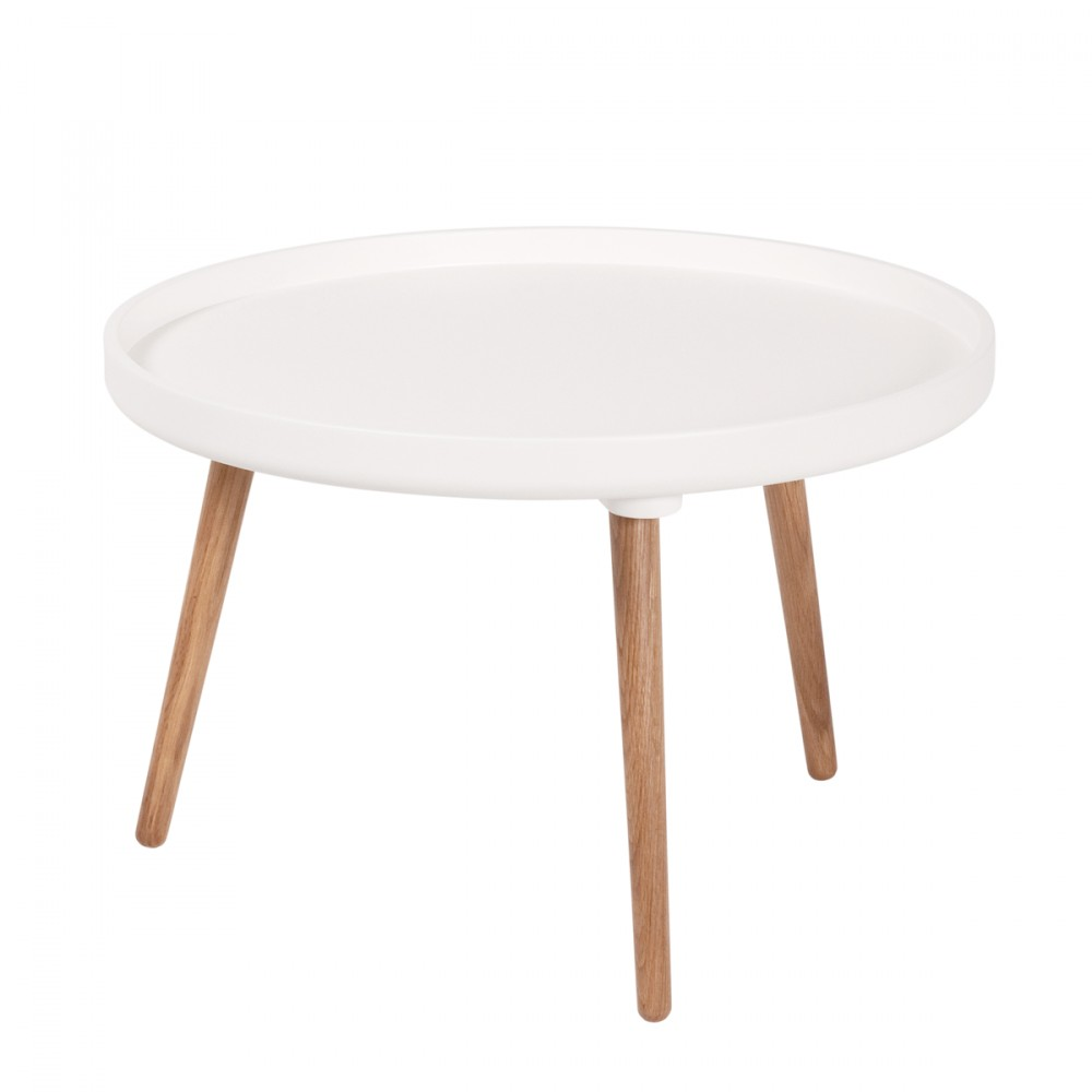Table Basse Blanche Ronde Table Basse Ovale Somum
