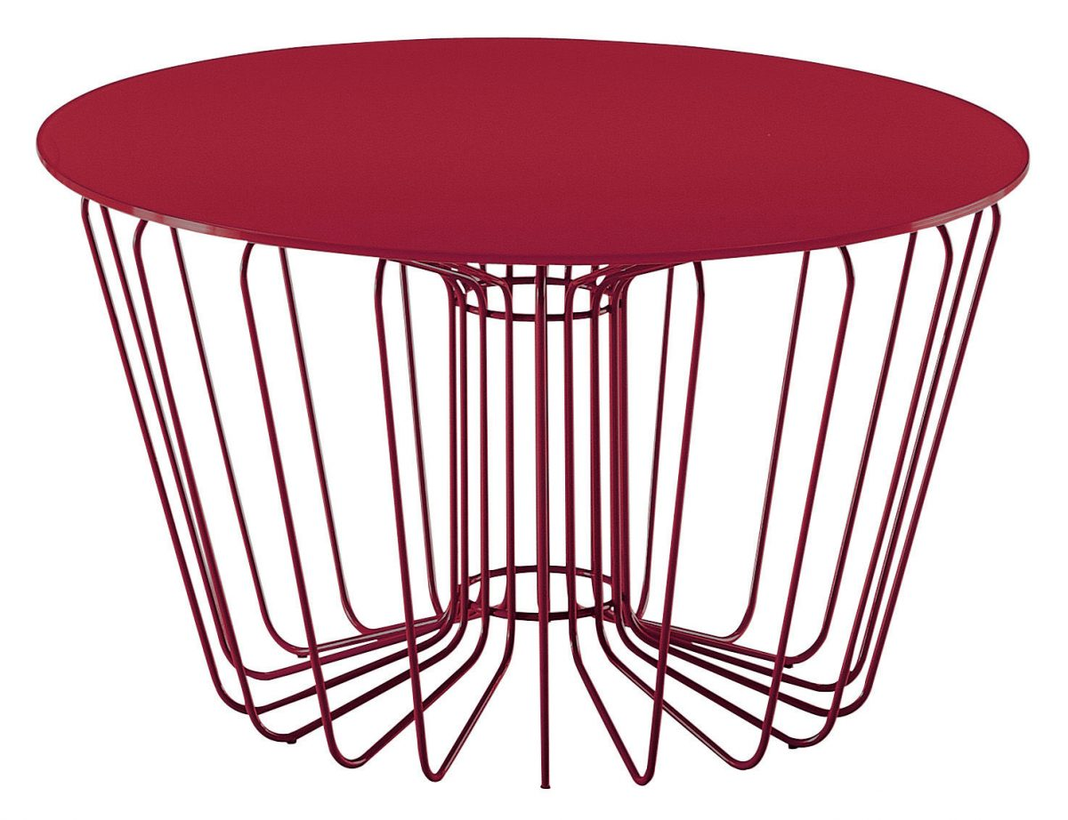Table basse Wire Rouge – Zanotta | Made In Design