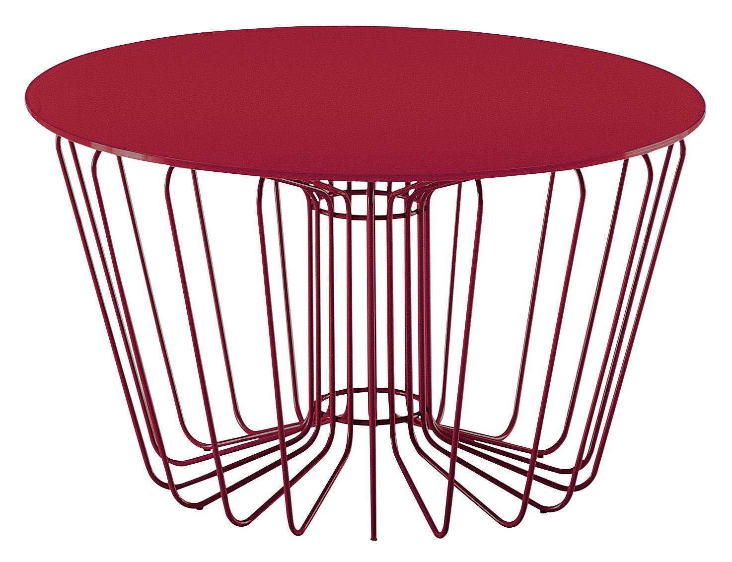 ... Mobilier - Tables basses - Table basse Wire - Zanotta - Rouge - Acier  verni,