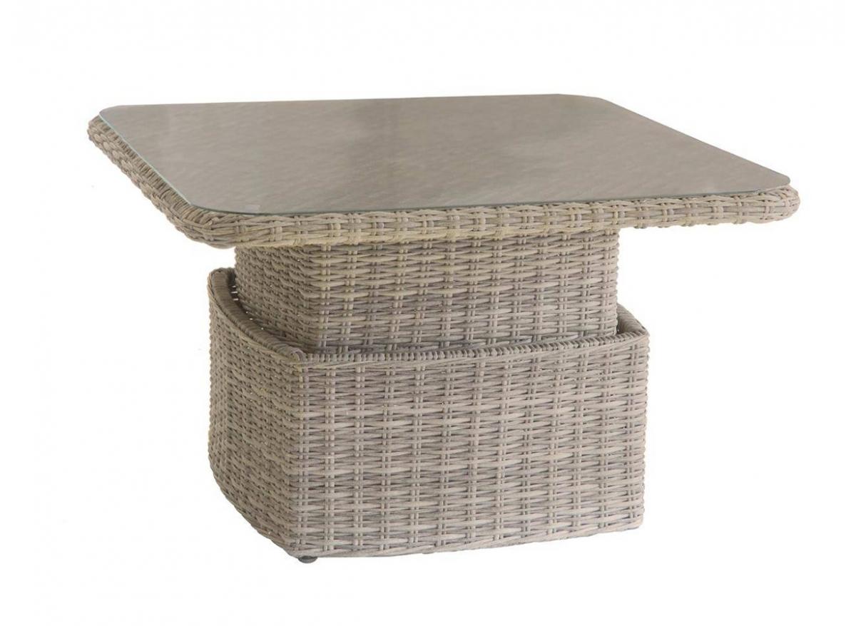 Table / Salon de jardin ajustable modèle Moorea | Hesperide