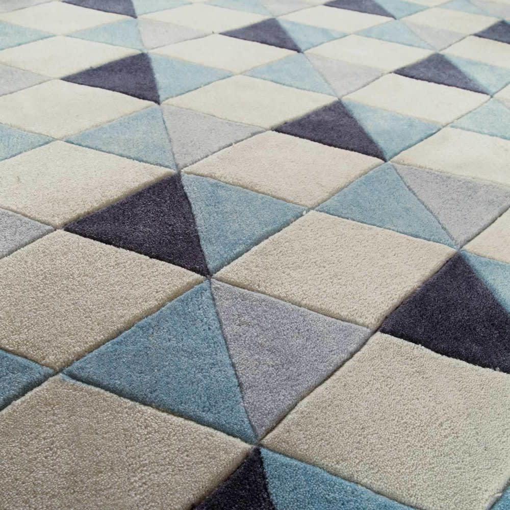 Tapis à poils courts bleu 160 x 230 cm Nordic | Maisons du Monde