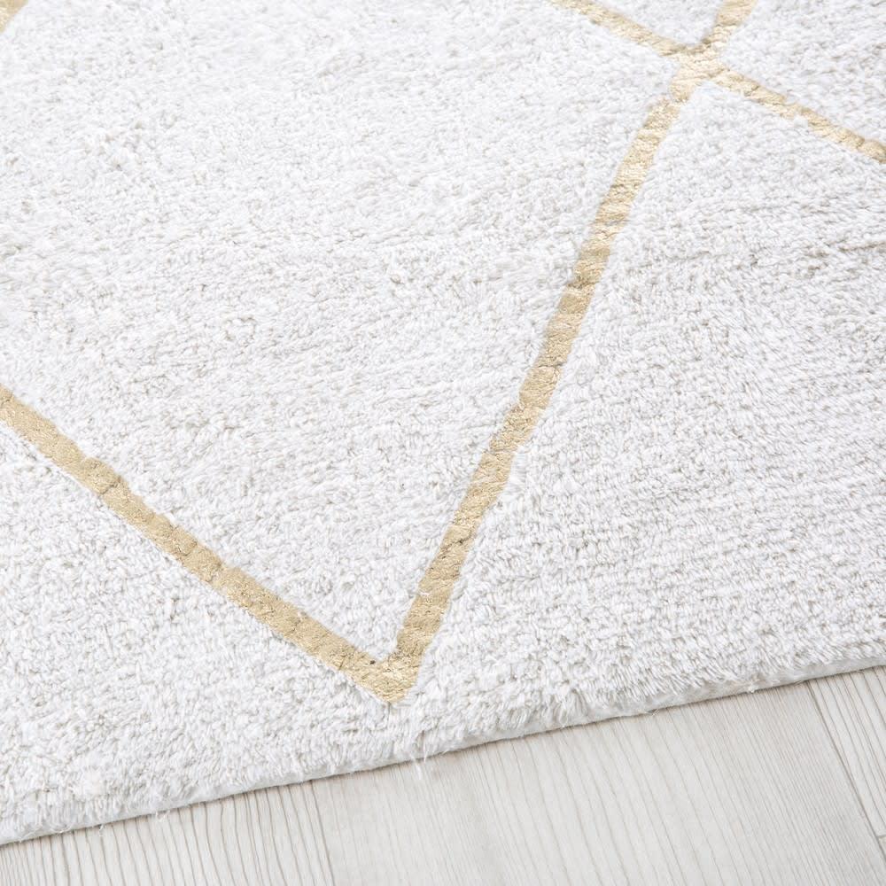 Tapis berbère en coton écru et doré 160x230 Jacala | Maisons du Monde